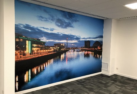 Printed wall graphics bespoke custom graphics vinyl for Digital print mural